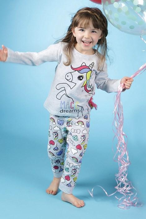 CTM Style Dívčí pyžamo CTM Pony šedá 4