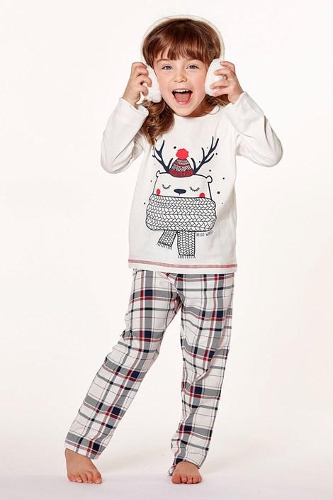 CTM Style Dívčí pyžamo Sapin ecru 8