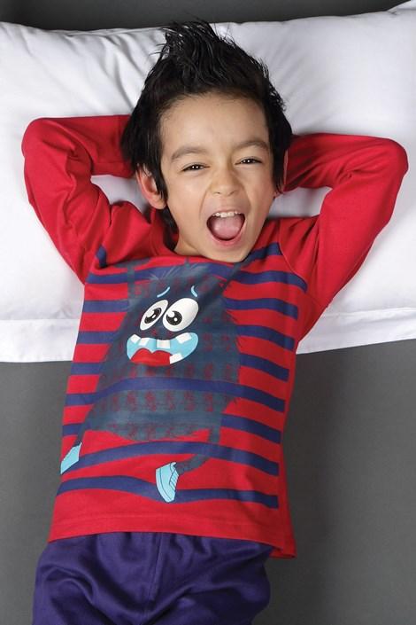 CTM Style Chlapecké pyžamo CTM Garcon modročervená 3