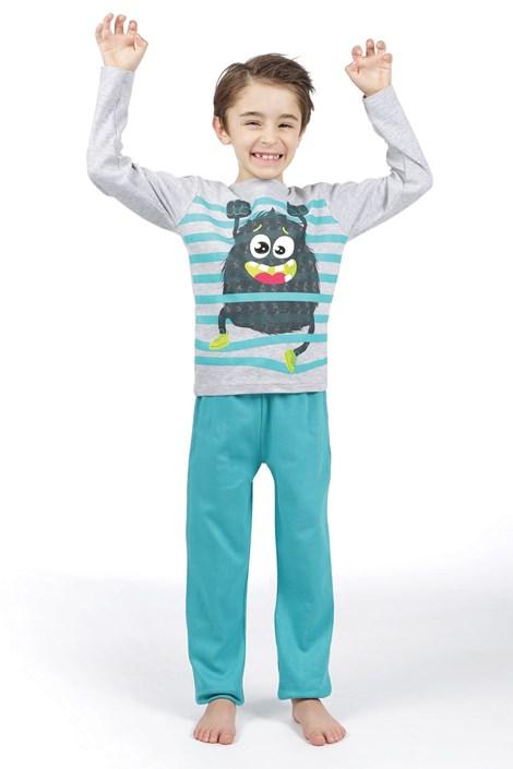 CTM Style Chlapecké pyžamo CTM Garcon šedozelená 8
