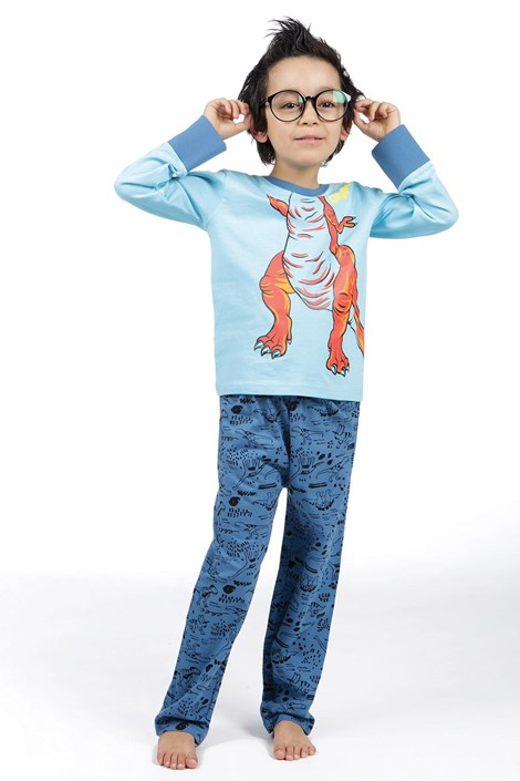 CTM Style Chlapecké pyžamo CTM Rex modrá 4