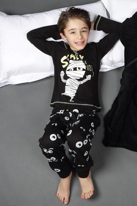 CTM Style Chlapecké pyžamo CTM Scary černá 6