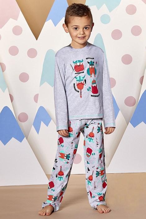 CTM Style Chlapecké pyžamo Viking šedá 5