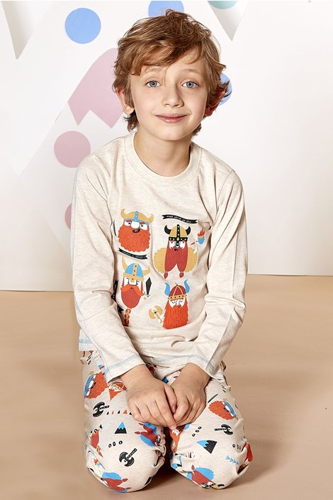 CTM Style Chlapecké pyžamo Viking béžová 5