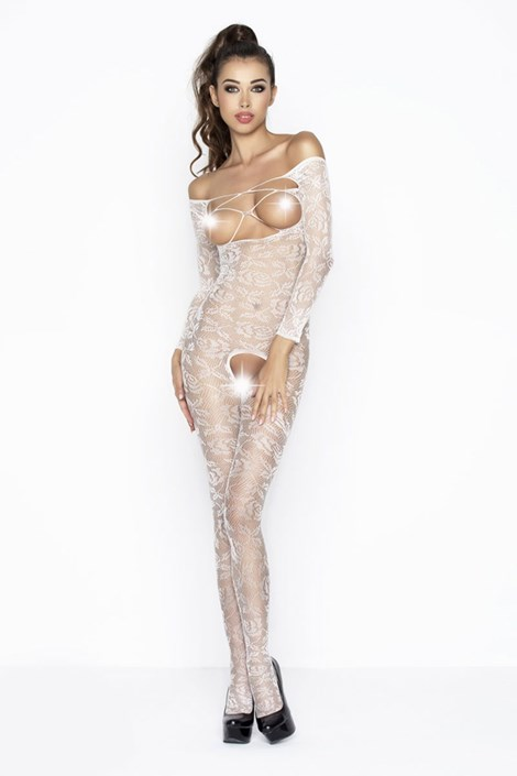 Erotic Line Bodystocking Lena bílá S/L