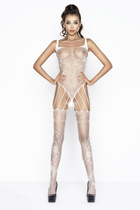 Erotic Line Bodystocking Flow bílá S/L