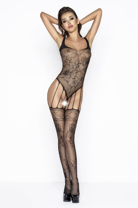 Erotic Line Bodystocking Flow černá S/L