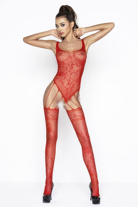 Erotic Line Bodystocking Flow červená S/L