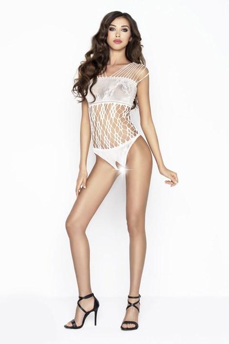 Erotic Line Luxusní bodystocking Nicole bílá S/L