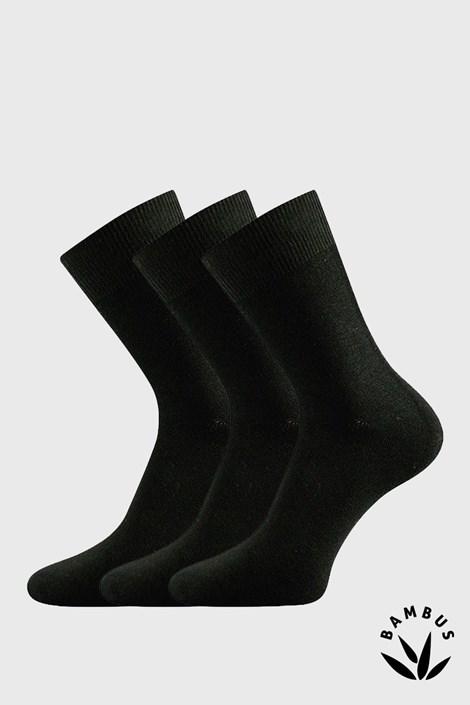 Lonka 3 pack ponožek Badon bambusové společenské černá 48-51