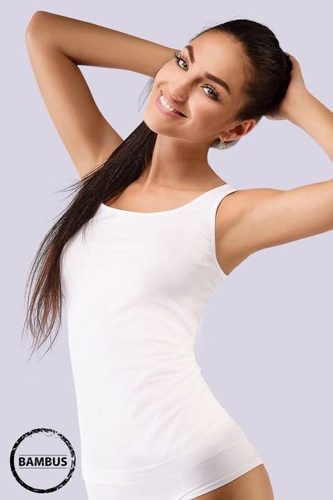 Gina Spodní košilka Tina Bamboo prodloužená bílá M/L