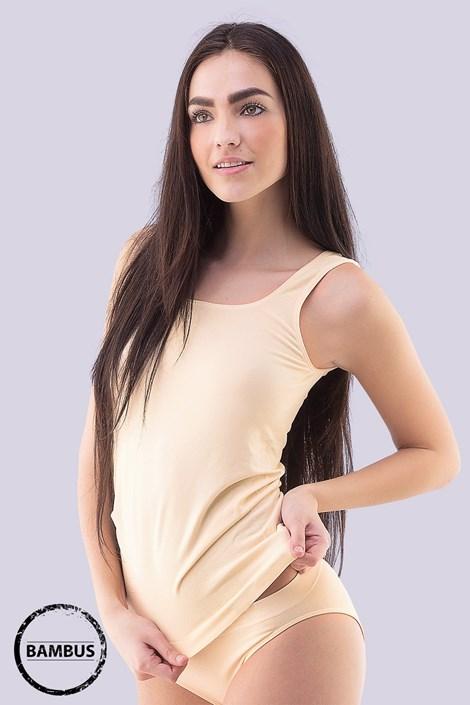 Gina Spodní košilka Tina Bamboo prodloužená tělová L/XL