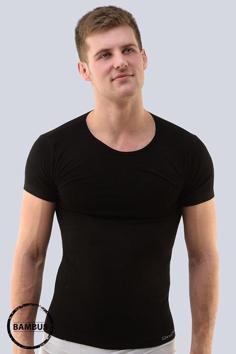 Gina Pánské tričko GINO Bamboo 03 bezešvé černá L/XL