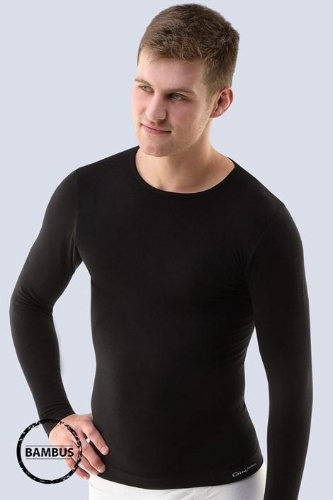 Gina Pánské tričko GINO Bamboo PureLine Long bezešvé černá L/XL