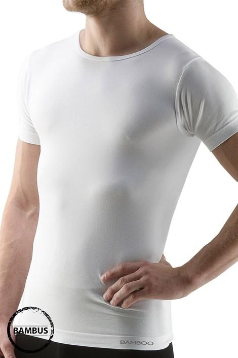 GINO Pánské tričko GINO ECO Bamboo Short bezešvé bílá S/M