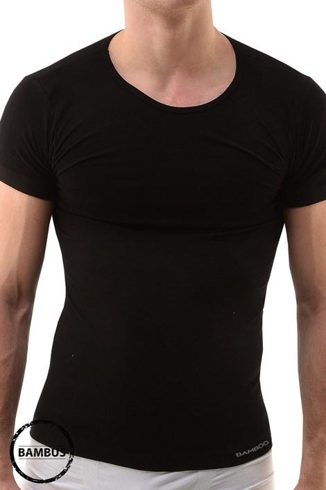 GINO Pánské tričko GINO ECO Bamboo Short bezešvé černá S/M