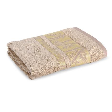 Sergen Tekstil Bambusový ručník Bowen světlehnědá 50x90