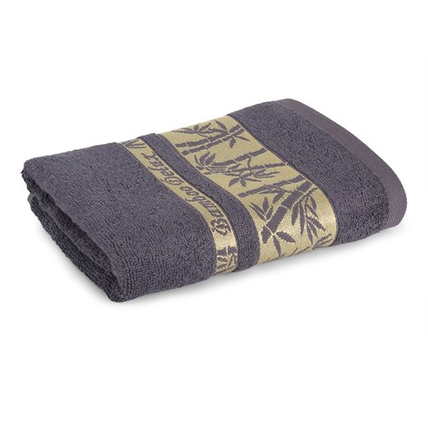 Sergen Tekstil Bambusový ručník Bowen šedá 50x90