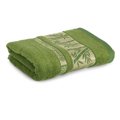 Sergen Tekstil Bambusový ručník Bowen tmavězelená 50x90