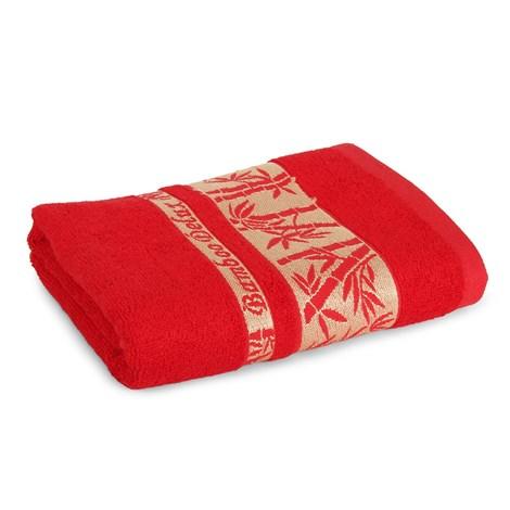 Sergen Tekstil Bambusový ručník Bowen červená 50x90