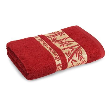 Sergen Tekstil Bambusová osuška Bowen bordó 70x140