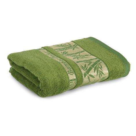 Sergen Tekstil Bambusová osuška Bowen tmavězelená 70x140