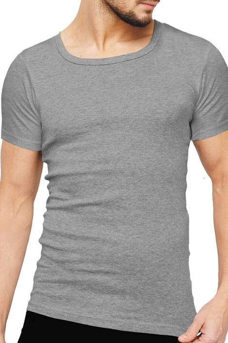Rössli Pánské tričko ROSSLI Premium Cotton šedá XXL