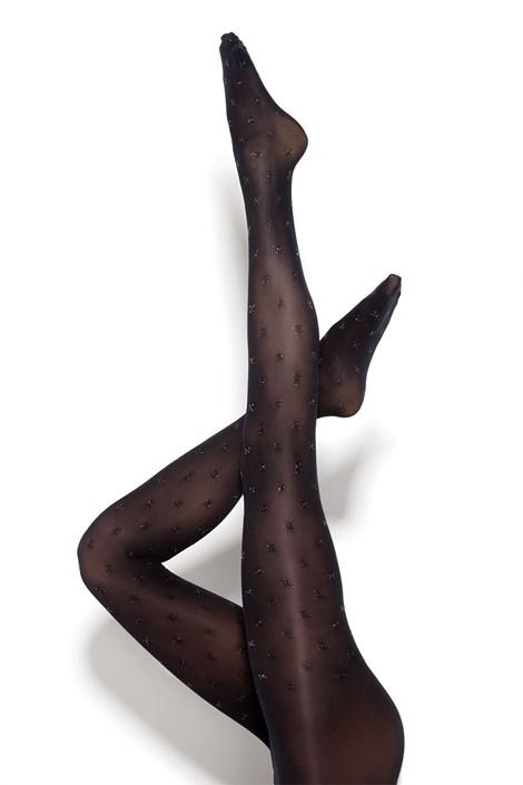 MONA Dámské punčochové kalhoty Bling Point 50 DEN černá XL