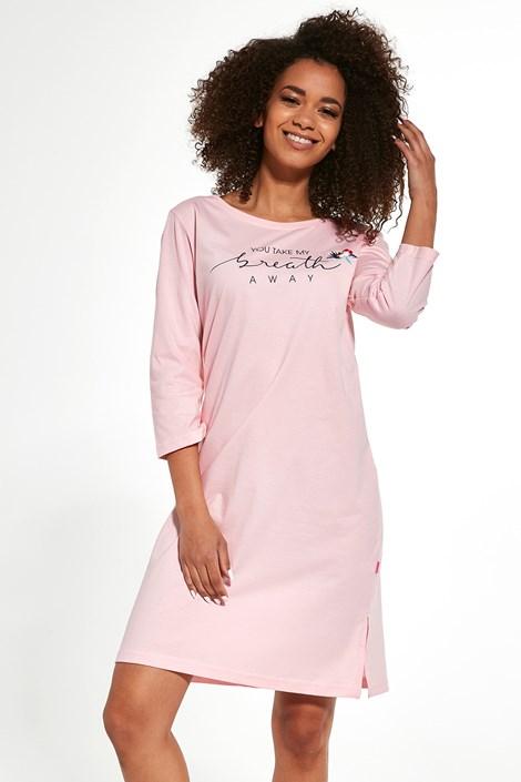 Cornette Dámská noční košile Breath růžová S