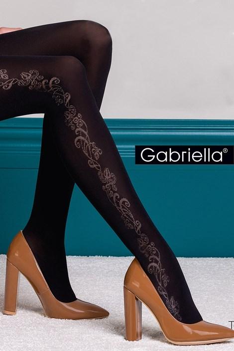 Gabriella Vzorované punčochové kalhoty Brenda černá 5