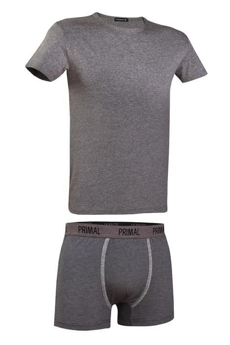 Primal Pánský set PRIMAL 162BG tričko a boxerky šedá XL