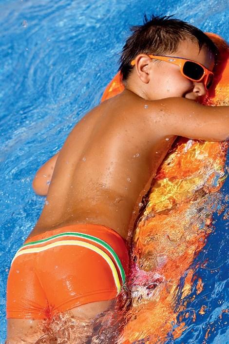 LORIN Chlapecké plavky Tom CB7 oranžová 134