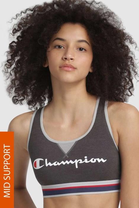 Champion Sportovní podprsenka CHAMPION The Authentic tmavěšedá L