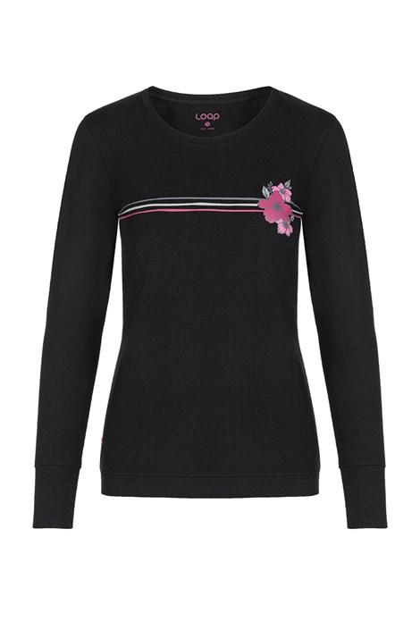 LOAP Dámské černé tričko LOAP Adema černá XS