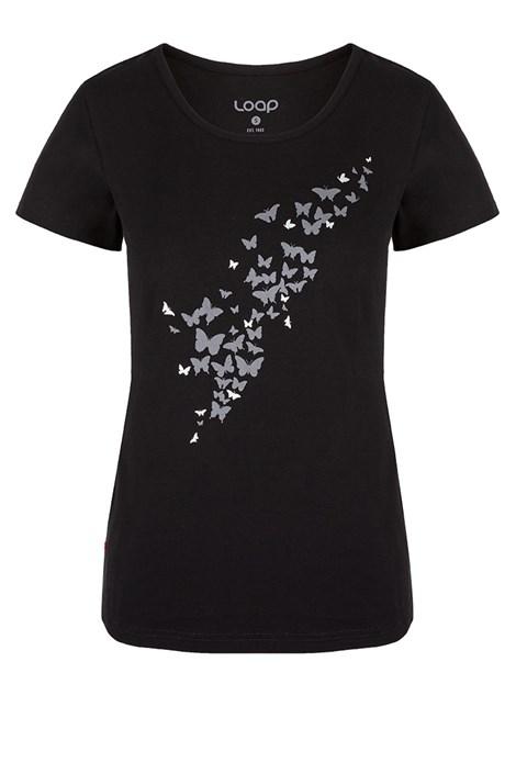 Dámské černé tričko LOAP Adamia