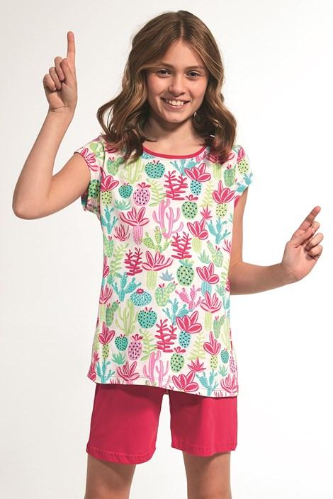 Cornette Dívčí pyžamo Cactus barevná 98/104