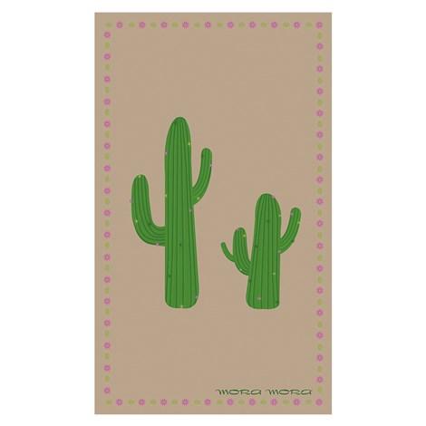 Mora Mora Plážová osuška Cactus hneda 100x170