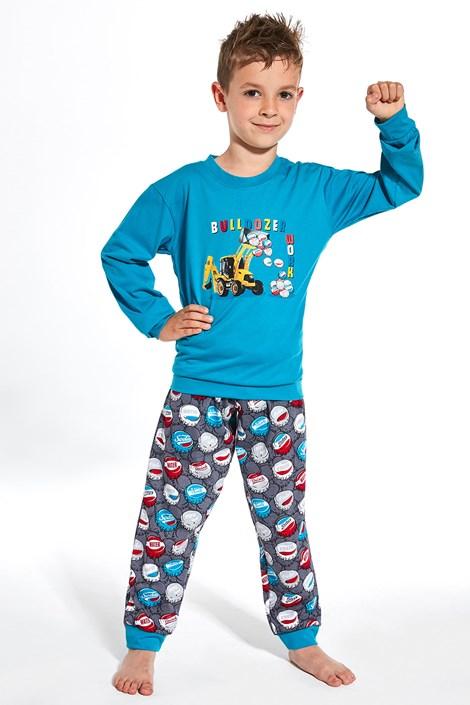 Cornette Chlapecké pyžamo Caps modrá 98/104