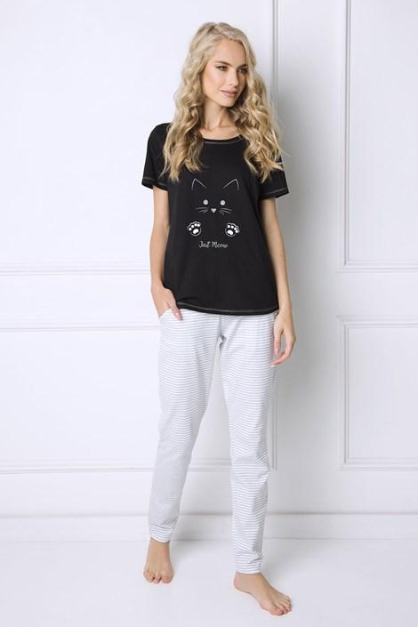 Aruelle Dámské pyžamo Cat Woman černá/šedá S