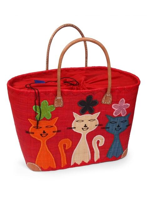 Le Comptoir De La Plage Velká plážová taška Chat červená uni