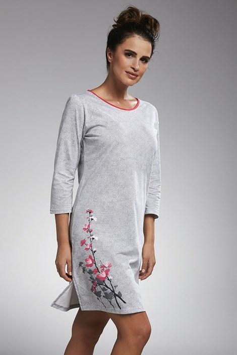 Cornette Dámská noční košilka Cherry šedá XL