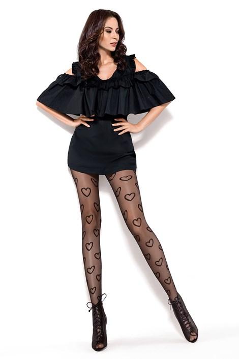MONA Punčochové kalhoty Chic 20 DEN černá S