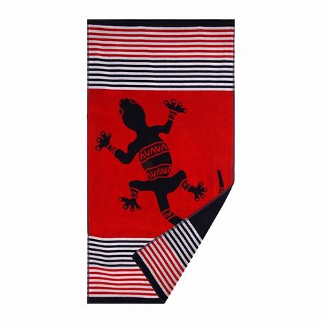 Le Comptoir De La Plage Plážová osuška Cirali červený barevna 90x170