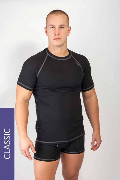 MrsFitness Pánské thermo tričko WINNER Classic5 Silver Plus černá S