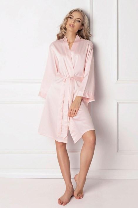Aruelle Elegantní dámský župan Classy růžová XL