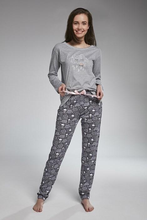 Cornette Dívčí pyžamo Cornette Cloud šedá XS