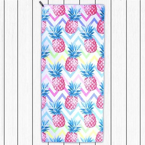 DECOKING Rychleschnoucí plážová osuška Pineapple vícebarevná 80x180