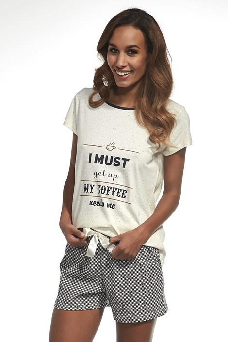 Cornette Dámské pyžamo My coffee ecru XL