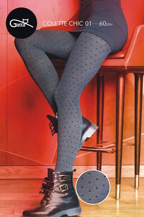 Gatta Vzorované punčochové kalhoty Colette Chic 01 melange M