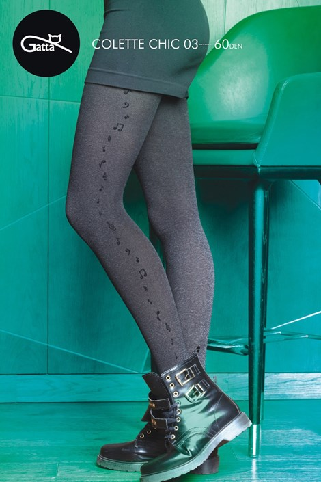 Gatta Vzorované punčochové kalhoty Colette Chic 03 melange M